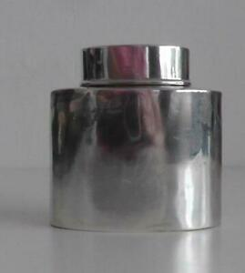 Solid Silver Tea Caddy/Cannister dates 1912