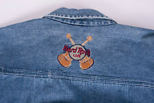 Hard Rock Cafe Orlando Shirt Blue Denim Embroidered Jeans Size S