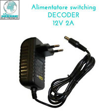 ALIMENTATORE SWITCHING DECODER DTT TELESYSTEM TS7000 MHP 12V 2A 5,5X2,1..2,5MM