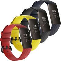 Cinturino ALL GRIP silicone regolabile polso sportivo fibbia FitBit Charge 3 4