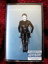 MADONNA HUMAN NATURE RARE COVER BOX UK CASSETTE TAPE K7 MAXI SINGLE PROMO INSERT