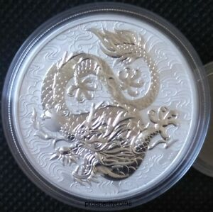 2021 Chinese Myths and Legends - Dragon 1oz .9999 Silver BU Coin
