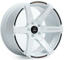 Cosmis Racing S1 18x10.5 5x114.3 ET5 White W/ Milled Spoke Rims (Set of 4)