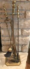 Vintage-1940's Brass fireplace andirons