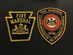 Pennsylvania Fire Marshal Patch Set