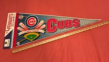 """RARE NEW OLD STOCK 1990s CHICAGO CUBS MLB Baseball PENNANT Full Size 12x30"""""""