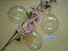 -3x  große Ostereier Ø 8,5 -9 cm Glas-Eier mit Öse Windows Color mundgeblasen