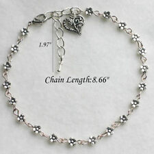 Bracelet Barefoot Sandal Beach FootB$ Women Silver Bead Chain Anklet Ankle