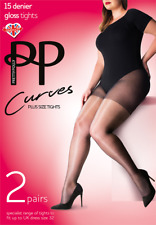 Pretty Polly Barely Black Extra Large 20 Denier Smooth Knit Tights