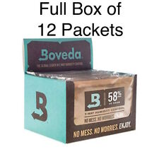 Full Box of 12 Packets Boveda 58% RH 2-way Humidity Control - Large 60 gram Size