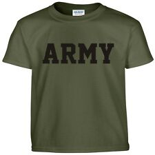 US Army Military Physical Training PT Gear Crossfit Workout Gym Tee T Shirt L