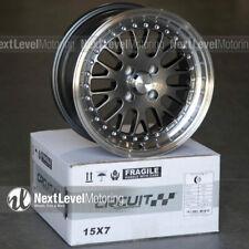 Circuit Cp21 15x7 4 100 25 Gun Metal Wheels Fits Honda Civic Eg Ek Jdm Mesh Lip