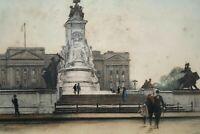Antique London Etching Buckingham Palace Edward King by Eugene Tily Circa 1920