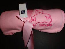 NWT Baby Gap Brannan Bear Elephant Pink Reversible Girl's Blanket
