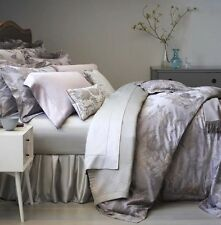 Sferra TULLIA Queen Duvet Cover Wisteria Grey Egyptian Cotton Sateen Floral New