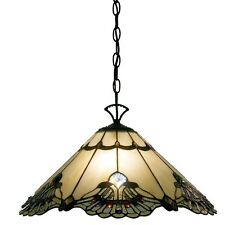 Light Fixtures Hanging Fixture Tiffany Style Lamp Ceiling Stained Glass 16 inch