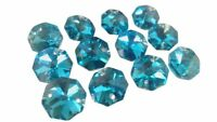 50 Metallic Aqua Octagon Chandelier Crystal Beads Octagons