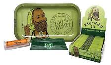 Zig Zag Organic Hemp Rolling Tray, Zig Zag Hemp 1 1/4 Rolling Papers (Full Box/2
