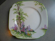 ROYAL ALBERT Crown China GREENWOOD TREE antique Pie or Dessert Plate 6""