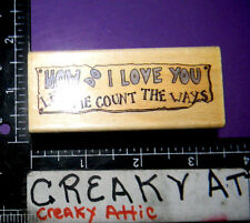 HOW DO I LOVE YOU LET ME COUNT THE WAYS RUBBER STAMP UPTOWN BOYD BEARS E21047
