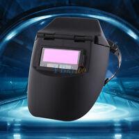 New AUTO Darkening Welding Helmet Mig Welder Mask Lens Solar Powered Black zhn