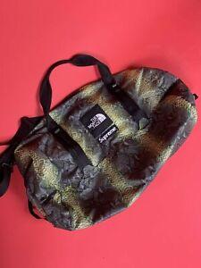 Supreme TNF Snakeskin Nylon Duffel Bag