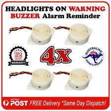 4x Car Van Ute Headlight On Warning Buzzer Reminder Alarm - 12V DC