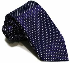7 Fold Silk Necktie ❤ Purple w/ white dots ❤ Big Knot Tie ❤ Ties perfect knot