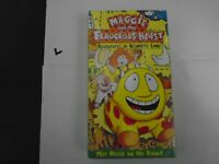 MAGGIE AND THE FEROCIOUS BEAST VHS NEW ANIMATED -ADV. IN NOWHERE LAND