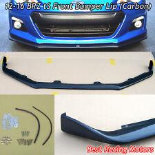 STi tS Style Front Bumper Lip (Carbon) Fits 12-16 Subaru BRZ
