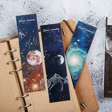 30Pcs Travel Space Bookmark Flags Book Mark Page Marker Set Gift 2019 Novel B6C5