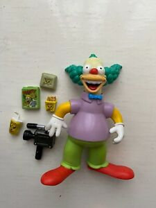 PLAYMATES INTERACTIVE THE SIMPSONS SERIES KRUSTY THE CLOWN COMPLETE FIGURE WOS