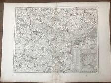 DELISLE CARTE  DU DIOCESE DE BEAUVAIS 1710
