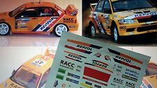 "DECAL CALCA 1/32 SLOT MITSUBISHI EVO VII ""RESPOL"" S. FOMBONA RALLY MEXICO 2004"