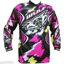 New Wulfsport Motocross Enduro Sz L Shirt Jersey Pink Ktm Xcf Crf Rm Yz Cr Kx