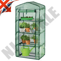4 Tier Mini Greenhouse - PE Cover Outdoor Garden Grow House Plants Vegetables