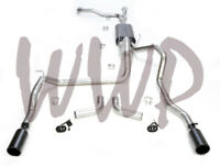 """Dual 3"""" Cat Back Exhaust & Black Tips For 04-15 Nissan Titan 5.6L W/ Flowmaster"""