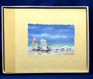 C.R Gibson  All-Purpose SAND and SEA Design Guest Book G2-921 New in Box