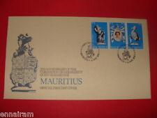 Queen Elizabeth II Silver Jubilee FDC 25 Coronation Mauritus 1978 #2