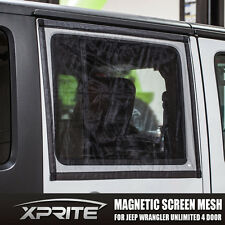 Window Magnetic Sun Shade Bug Insect Screen Mesh for 07-17 Jeep Wrangler 4 Door