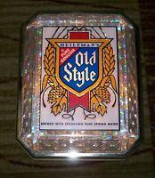 Vintage 1983 Heileman's Old Style Beer Lighted Sign, Crystal Cut - Works