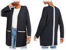 Eileen Fisher Womens Gray Merino Wool Duster Cardigan Sweater Jacket L BHFO 3899