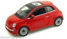 Motormax  Fiat Nuova 500 Red 1/24 Diecast cars New In Box 73373RD