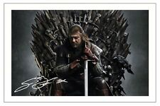 SEAN BEAN GAME OF THRONES SIGNED PHOTO PRINT AUTOGRAPH EDDARD STARK