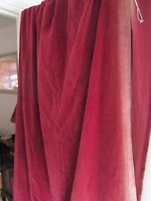 1 pair of vintage velvet deep red curtains (sun faded  )