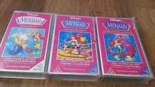 THE LITTLE MERMAID X 3 TITLES VHS VIDEO'S WALT DISNEY