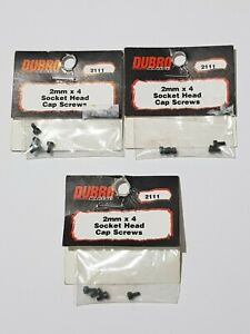 DuBro Mixed Lot 2111(3) 2104(1) 2105(1) Cap screws & Hex nuts