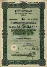 F. Schichau Elbing Elblag Ostpreußen 1943 Lit. G Bremerhaven Danzig Weser 5000 M