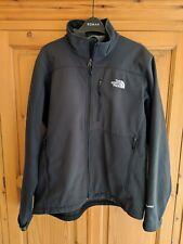 North Face Men's TNF Apex Gris Full Zip chaqueta de cáscara suave-Talla M