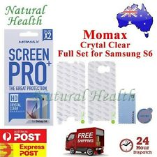 Momax Pro+ Screen Protector Film Full Set HD Crystal Clear for Samsung Galaxy S6